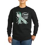 Ovarian cancer sister Long Sleeve Dark T-Shirts
