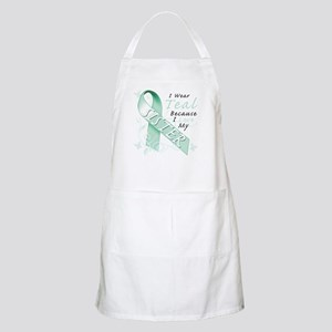 I Wear Teal Because I Love My Sister Apron