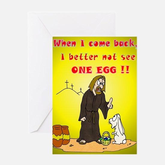 Jesus vs Easter Greeting Card