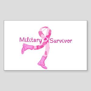 Military Survivor Sticker (Rectangle)