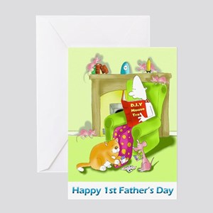 Mouse trap, first fathers day Card