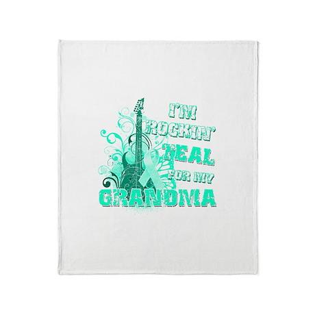 I'm Rockin' Teal for my Grandma Throw Blanket