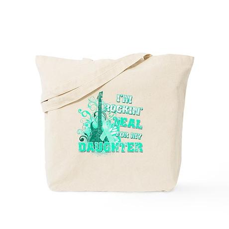 I'm Rockin' Teal for my Daughter Tote Bag