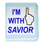 I'm With SAVIOR! baby blanket