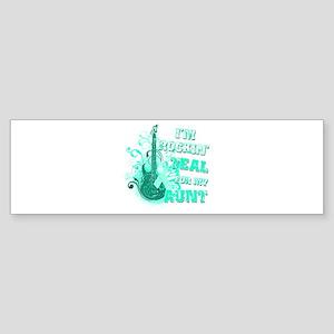 I'm Rockin' Teal for my Aunt Sticker (Bumper)