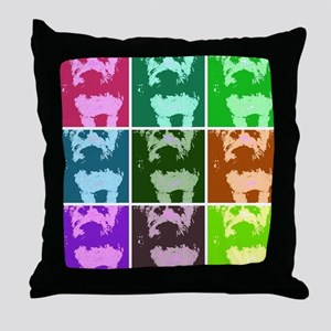 Wheaton Terrier Pop Art Throw Pillow