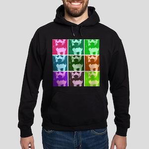 Wheaton Terrier Pop Art Hoodie (dark)