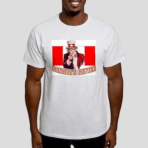 Uncle Sam in Canada Ash Grey T-Shirt