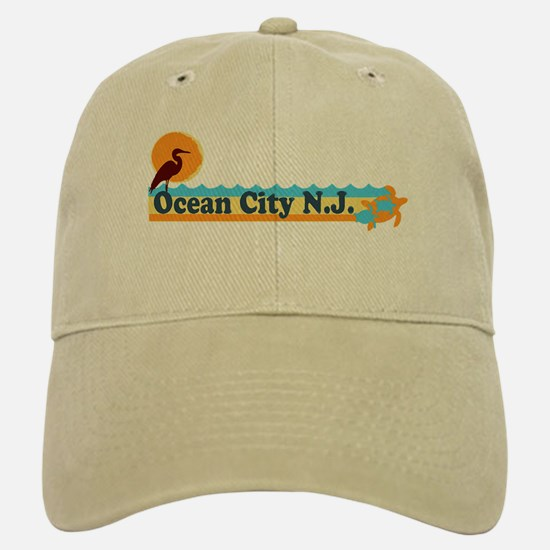 Ocean City NJ - Beach Design Baseball Baseball Cap