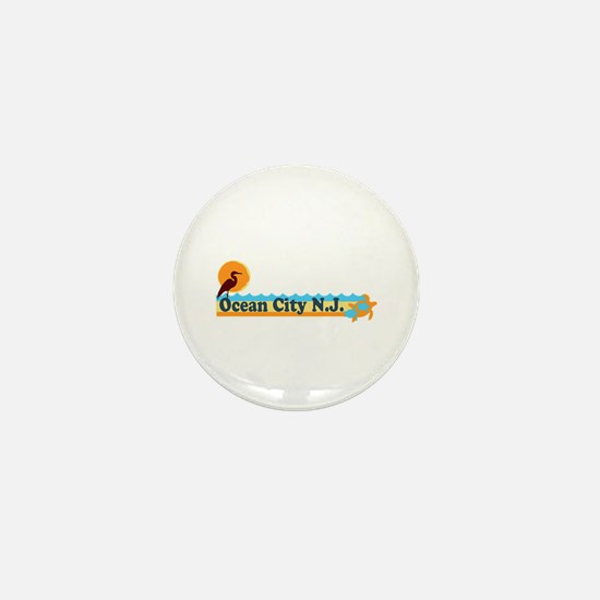 Ocean City NJ - Beach Design Mini Button