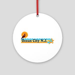 Ocean City NJ - Beach Design Ornament (Round)