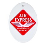 Air Express Oval Ornament