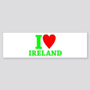 I LOVE IRELAND Sticker (Bumper)
