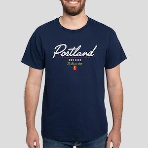 Portland Script Dark T-Shirt