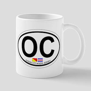 Ocean City NJ - Oval Design Mug