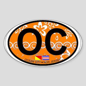 Ocean City NJ - Oval Design Sticker (Oval)