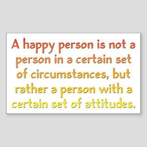 Happy Person Sticker (Rectangle)