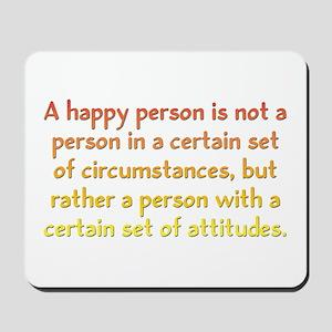 Happy Person Mousepad