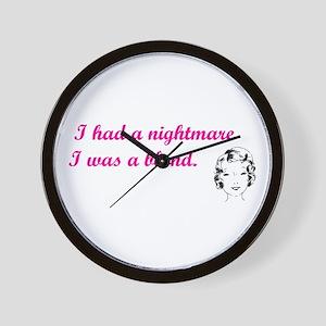 Blond Nightmare Wall Clock