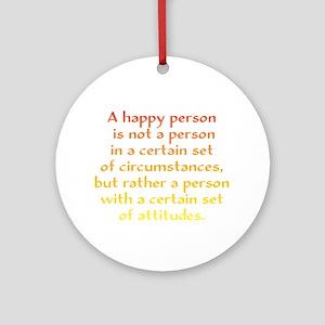 Happy Person Ornament (Round)