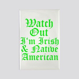 IRISH NATIVE AMERICAN Rectangle Magnet