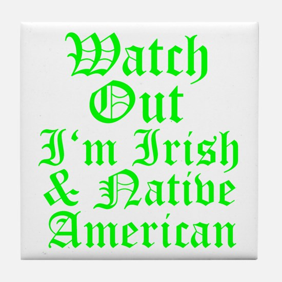 IRISH NATIVE AMERICAN Tile Coaster