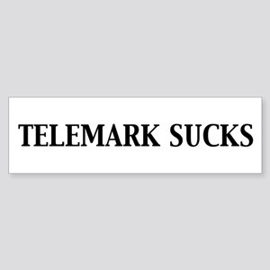 Telemark Sucks Bumper Sticker