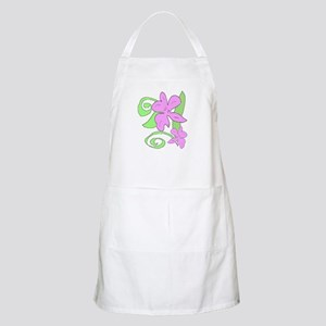 Pink/Green orchid BBQ Apron