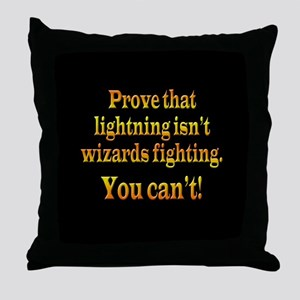 Wizards Fighting Throw Pillow