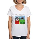 How It All Started Women's V-Neck T-Shirt