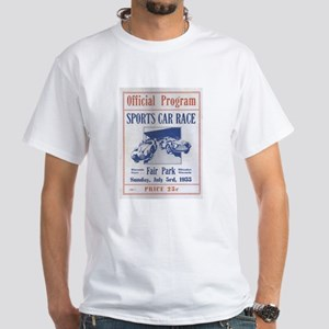 1955 wisconsin grand prix White T-Shirt