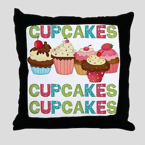 Cupcakes Cupcakes Cupcakes Throw Pillow
