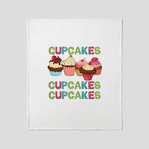 Cupcakes Cupcakes Cupcakes Throw Blanket