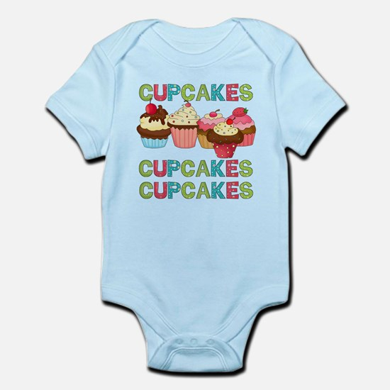 Cupcakes Cupcakes Cupcakes Infant Bodysuit