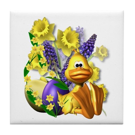 Daffy About Daffodils! Tile Coaster