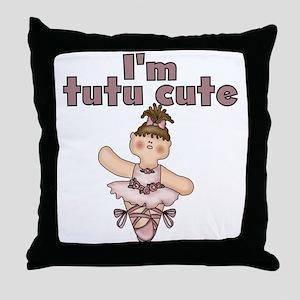 Tutu Cute Throw Pillow