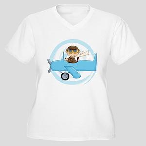 Boy Pilot Women's Plus Size V-Neck T-Shirt