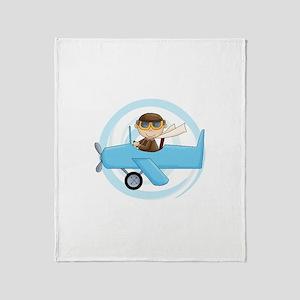 Boy Pilot Throw Blanket