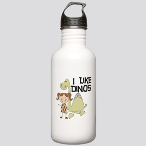 Girl I Like Dinos Stainless Water Bottle 1.0L
