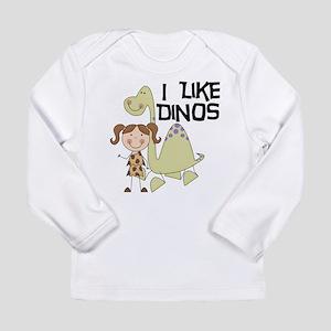 Girl I Like Dinos Long Sleeve Infant T-Shirt