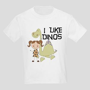 Girl I Like Dinos Kids Light T-Shirt