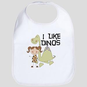 Girl I Like Dinos Bib
