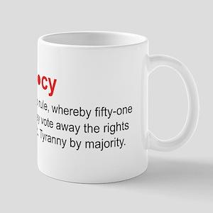 3-Democracy Bumper Sticker Mugs