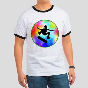 Tie Dye Skater Ringer T
