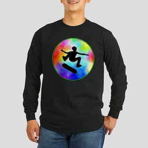 Tie Dye Skater Long Sleeve Dark T-Shirt