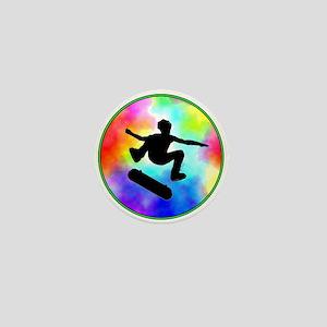 Tie Dye Skater Mini Button
