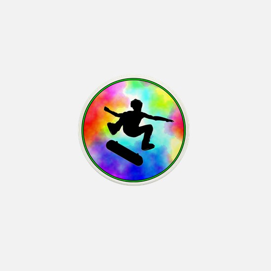 Tie Dye Skater Mini Button