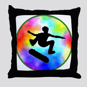Tie Dye Skater Throw Pillow
