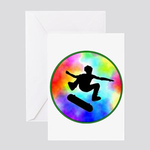 Tie Dye Skater Greeting Card