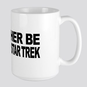 I'd Rather Be Watching Star Trek Large Mug